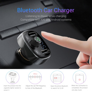 Image 3 - Baseus Car Charger FM Transmitter Aux Modulator Bluetooth Handsfree Car Audio MP3 Player 3.4A Fast Dual USB Mobile Phone Charger