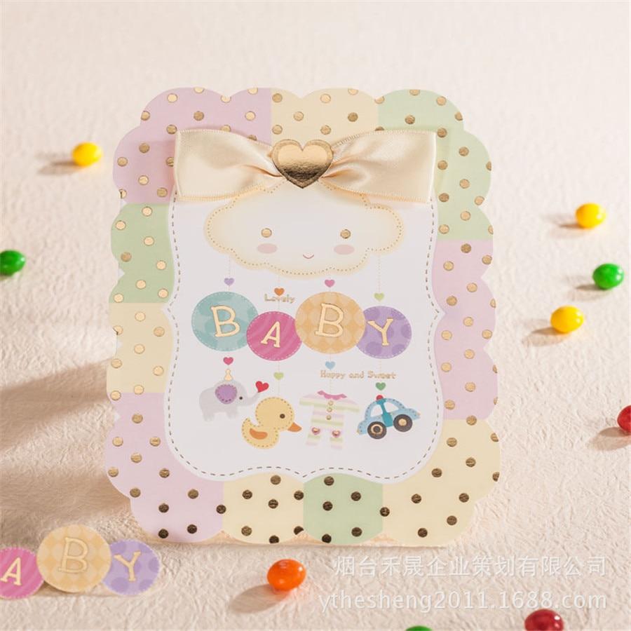 2016 blank kids birthday invitation card creative baby