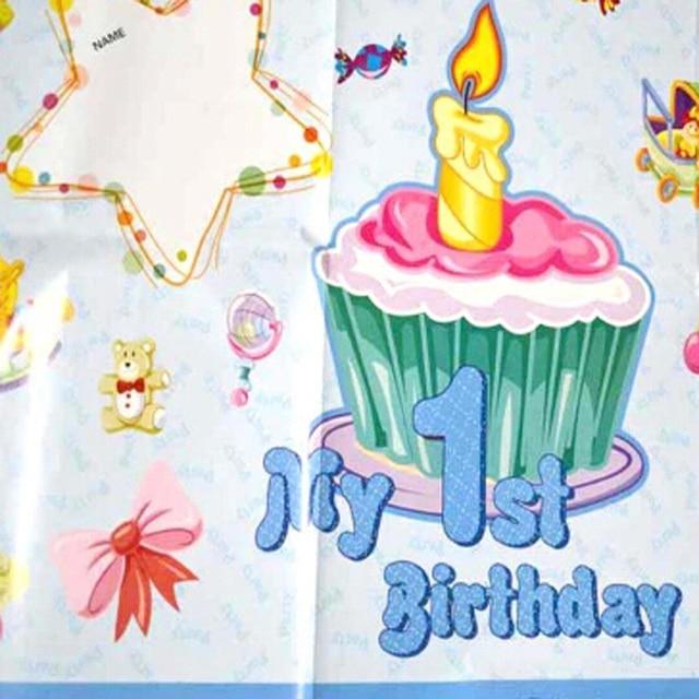 suministros de cumpleaos posters decorar suministros fiesta de cumpleaos del beb de un ao lleno de