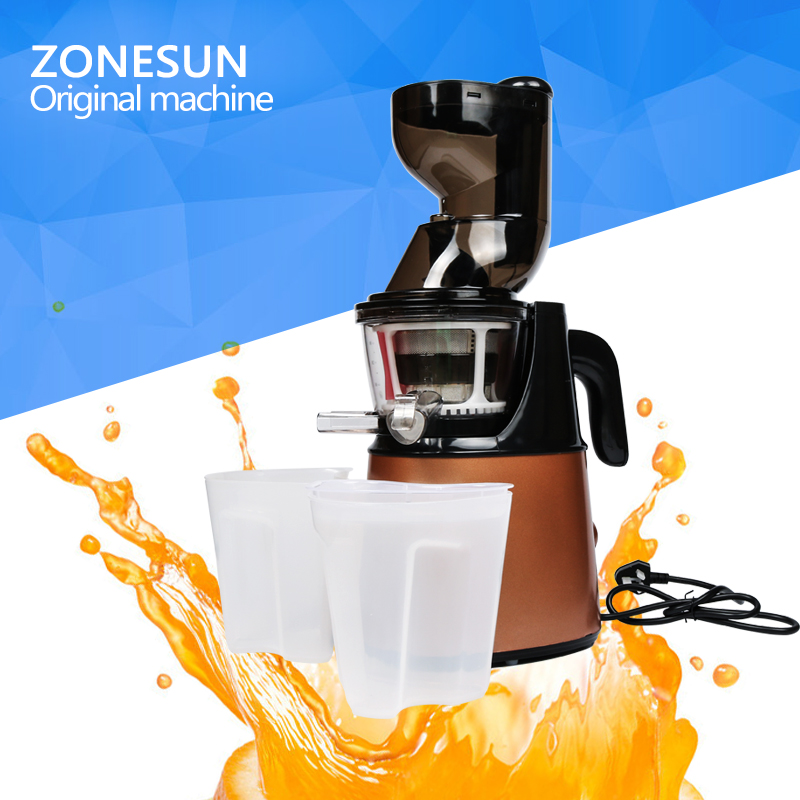 ZONESUN  2nd Generation Slow Juicer Fruit Vegetable Citrus Low Speed Juice Extractor  slow juicer fruit vegetable citrus low speed juice extractor squeezer soymilk higher juice rate