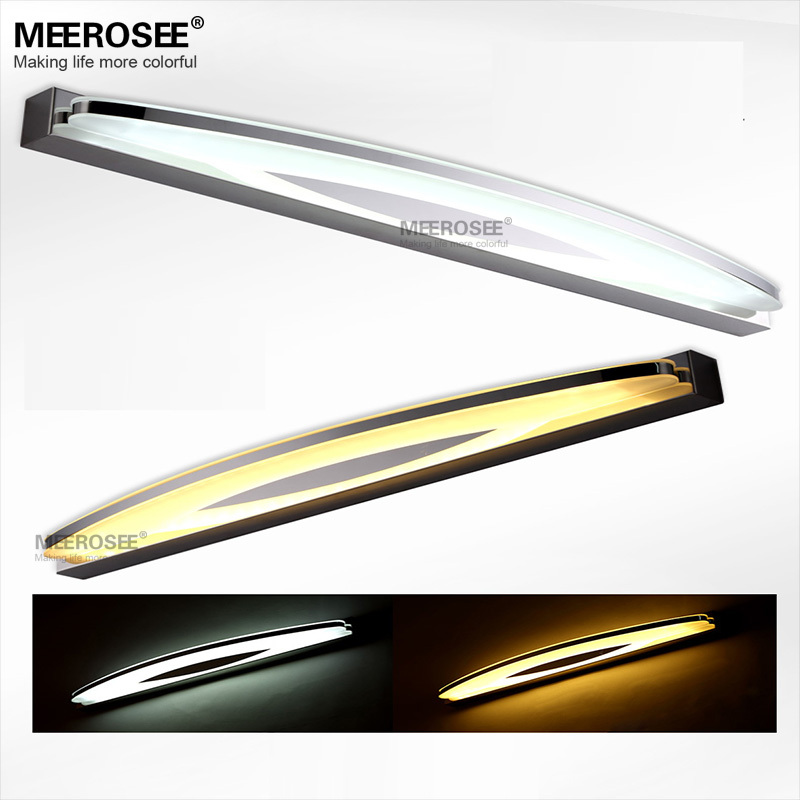 Modern Acrylic LED Mirror Wall lighting fixture Wall mounted LED Bathroom lamp High Quality 6watt LED wall lustres fast shipping high quality 9 brass 1x3x magnifying bathroom wall mounted round 25 led cosmetic makeup mirror with lighting mirror 2068