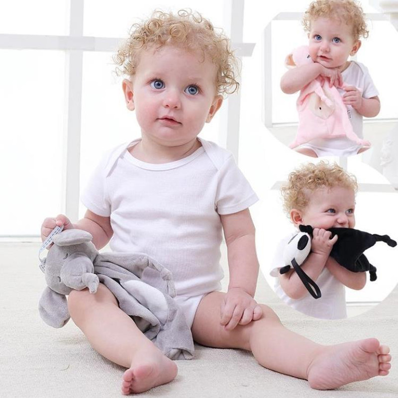 Baby Pacifier Blankie Soothing Towel Baby Stroller Sleeping Toy Newborn Soft Soother Towel Animal Educational Plush Toy