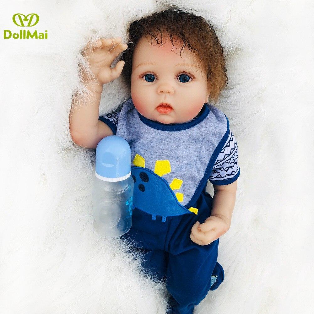 Otardpoupées 20 pouces bebes Reborn poupées 50 cm silicone doux reborn bébé poupée réaliste nouveau-né bébés boneca jouets pour fille cadeau