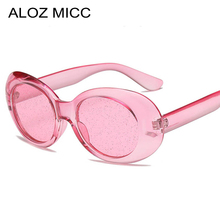 ALOZ MICC Fashion Small Oval Crystal Sunglasses Women 2018 Summer Sexy Shades Candy Color Women Men Sun Glasses Q258