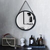 Nordic Cosmetic Mirror Wall mounted Bathroom Bathroom Round Mirror Room Wall mounted Decorative Mirror Wall Mirrors