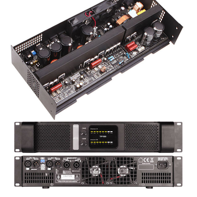 US $390 96  2 Channel Professional Power Amplifier Mosfet Amplifier 2*1500  Watts Stereo Class D Line Array Tulun play TIP1500-in Stage Audio from