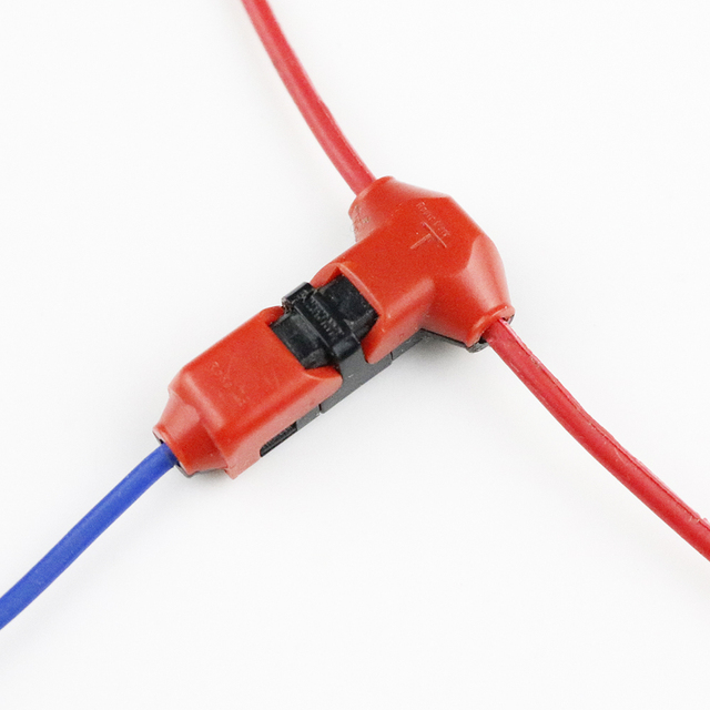 5pcs lot wire connectors t shape scotch lock terminals crimp rh aliexpress com Ideal Wire Connectors scotch lock wire connector sizes
