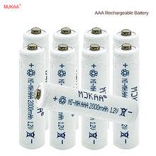 10 шт. AAA Перезаряжаемые Батарея 2000 мАч Ni-MH Перезаряжаемые AAA Батарея для дистанционного управления игрушка