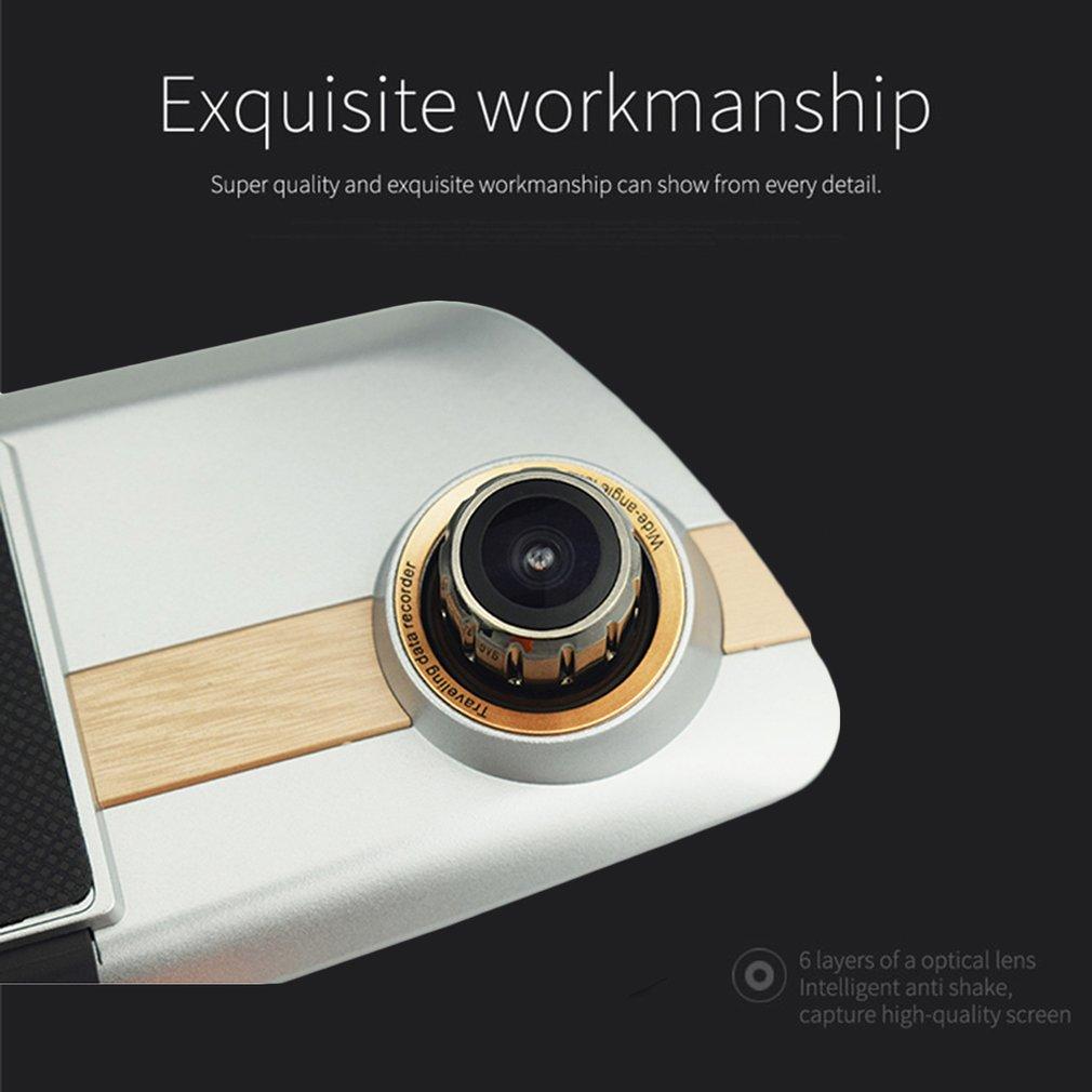 купить 7 Inch Touch Screen Car DVR Full HD 1080P Dual Lens Camera Rearview Mirror Video Recorder Dash Cam Auto Camera Recorder по цене 2490.75 рублей