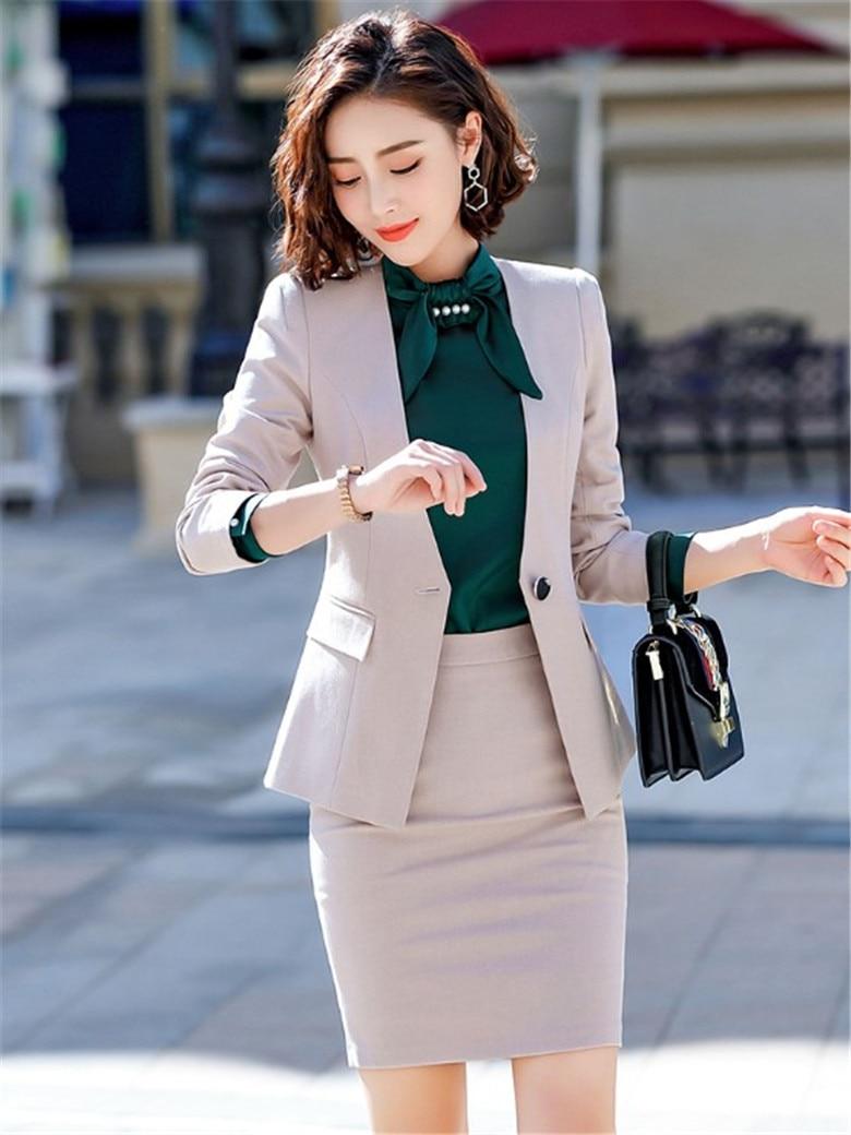 Women Suit Office Uniform New Spring Autumn Slim Fashion Long Sleeve Single Button Blazer And Trouser Set Femininas Ds50392