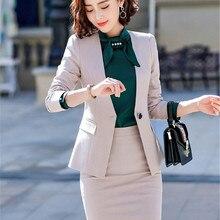 Women Suit Office Uniform New Spring Autumn Slim Fashion Long Sleeve Single Butt