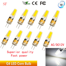 5PCS G4 LED Lamp 2W COB Bulb AC DC 12V 220V Mini Lampada Light 360 Beam Angle Lights Replace 20W halogen lamp