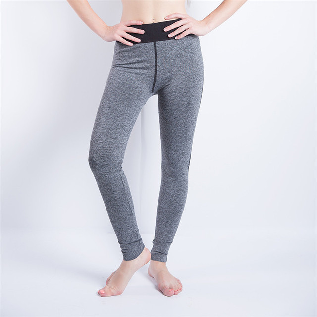 0d896a7deaf1 2018 Hot Yoga Pants Women Silver Sport Leggings Push Up Fitness Clothes  Running Pants High Waist Gym Trousers Running 4FN