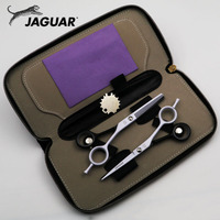 5 5 6 Inch Professional Hairdressing Scissors Set Cutting Thinning Barber Shears High Quality Personality Black