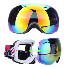 Unisex Adults Professional Spherical Anti-fog Double Lens Snowboard Ski Goggle Eyewear for Outdoor Sports