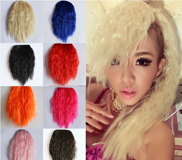 20pcs Fashion Colorful Clip In Bangs Long Punk Side Bangs Clip In