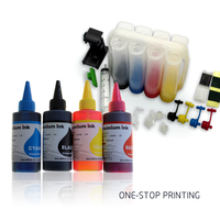 Universal 4Color CISS with accessaries ink tank + one set 100ML universal ink for use in HP Canon Brother Epson all printer CISS