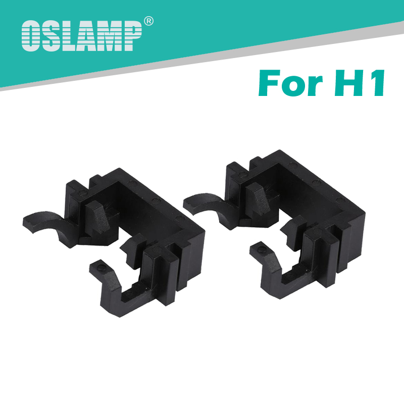 Oslamp Black Plastic Special H1 Adapters for High Beam Headlight 2pcs H1 Socket Mounts for Ford Focus/Fiesta/Mondeo/KIA Carnival
