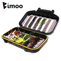 Bimoo 72/80pcs Fly Fishing Flies Trout Lures Dry/Wet Flies Nymphs Ice Fishing Lures for Trout Grayling Panfish Fishing Tackle