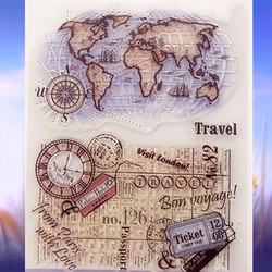 14 18cm craft tool transparent stamp vintage world travel map clear stamps seal for diy scrapbooking.jpg 250x250