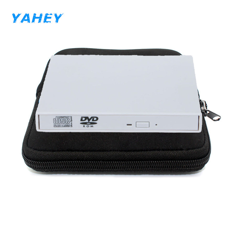 USB 2.0 External DVD Drive CD RW Burner Recorder CD/DVD-ROM Player Portable Optical Drive for Laptop/Desktop Computer+Drive bag