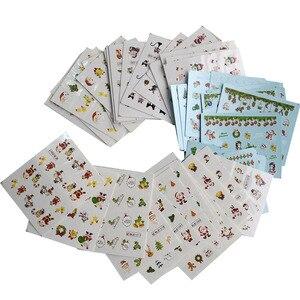 Image 3 - Juego de calcomanías de Navidad para manicura, juego de 44 láminas para uñas, diseños de invierno, CHNJ004