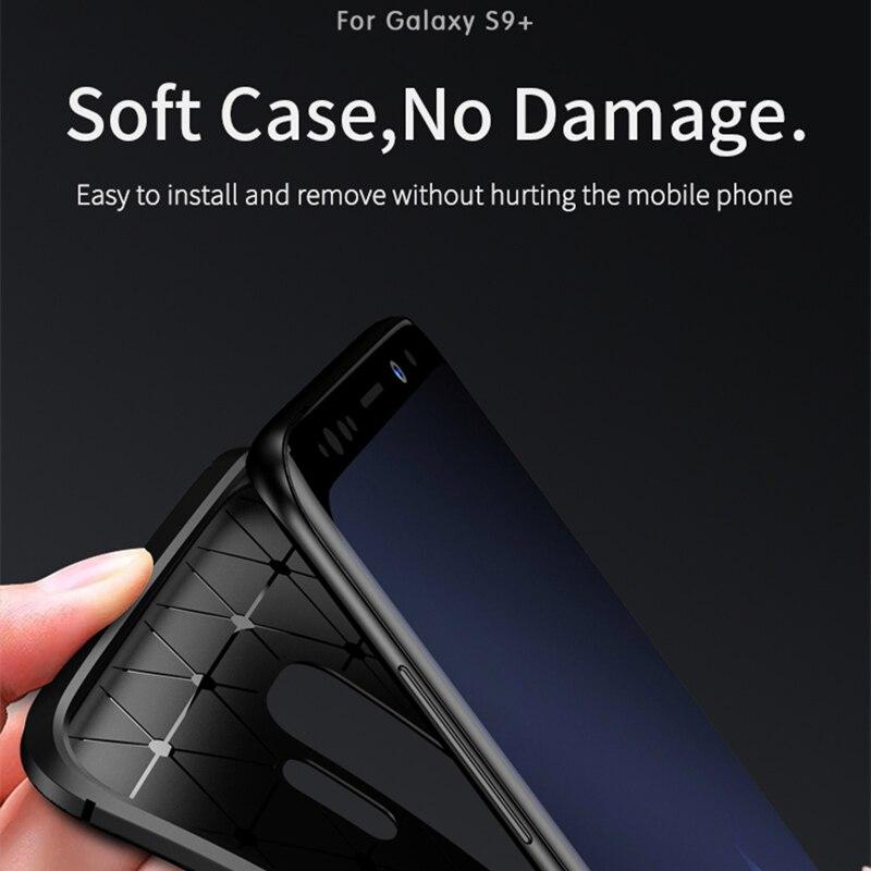 para Samsung S9 Funda IPAKY S9 Plus Funda de silicona TPU Fibra de - Accesorios y repuestos para celulares - foto 5
