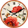 Roses Wall Clock Flower Design Fashion Silent Living Room Wall Decor Saat Home Decoration Watch Wall