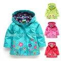 Topolino Бренд, Детские толстовки, новый 2014, осень одежда, детские девушки куртка, дети верхняя одежда, ветрозащитный водонепроницаемая куртка