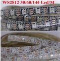 individually addressable 1m 5m waterproof ip67/ip30 5050 rgb 30 60 144 led/m 5v ws2811 ws2812 ws2812b led strip black/white pcb