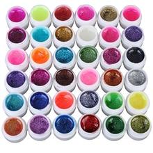 Hot! 36 Mixed Colors Glitter UV Gel Polish Soak Off Top Coat for Nail Art False Tips