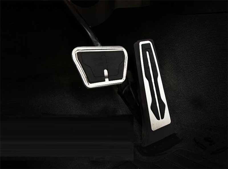 Gas Fuel Brake Footrest Foot Pedal Cover AT Kit For BMW 5 Series G30 2017 2018