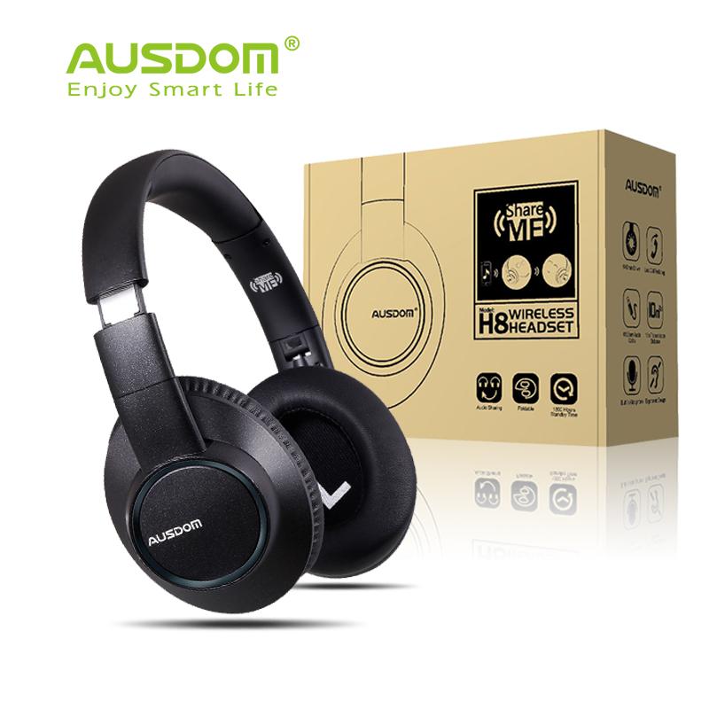 Prix pour Ausdom h8 sans fil casque bluetooth casque sur-oreille stéréo casque sonore améliorée avec micro intégré pour iphone samsung