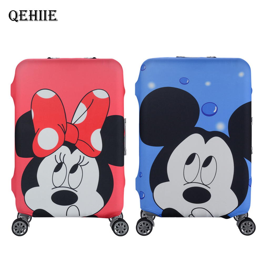 Disciplined Travel Cartoon Anime Luggage Cover Cute Mickey Bear 3d Giraffe Suitcase Cover High Quality Elastic Thickness Travel Accessories Luggage & Bags