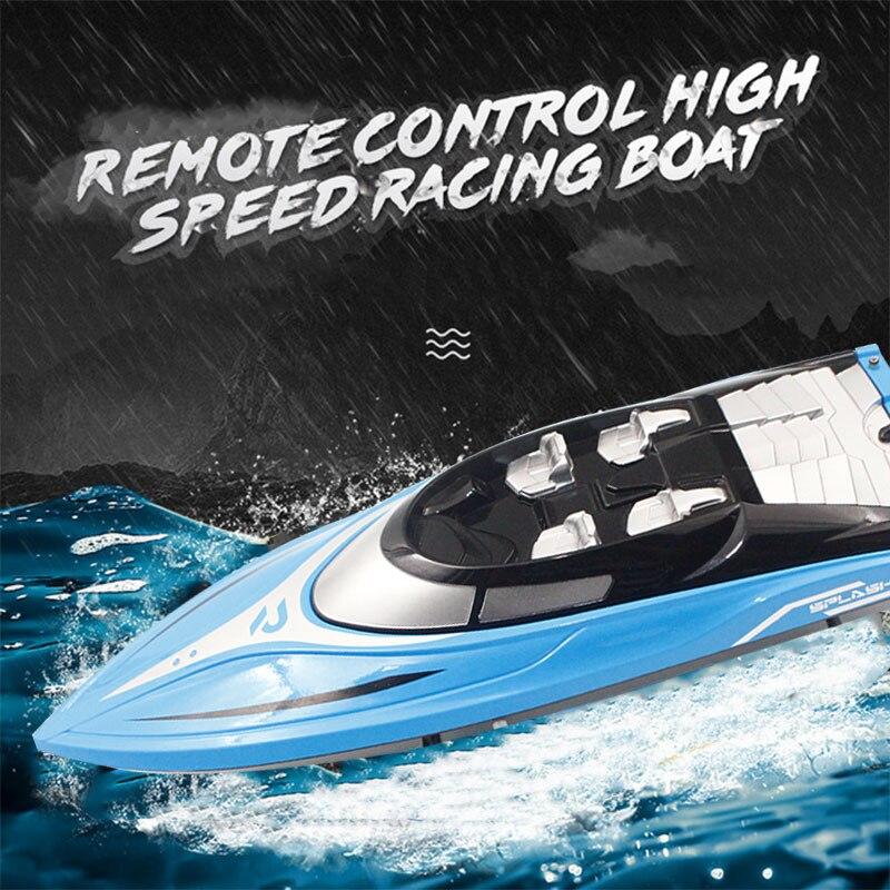 Bateau de course hors-bord bateau télécommandé bateau Rc bleu rivière piscine partie efficace course jouet jeu électrique jouet Rc bateau cadeau