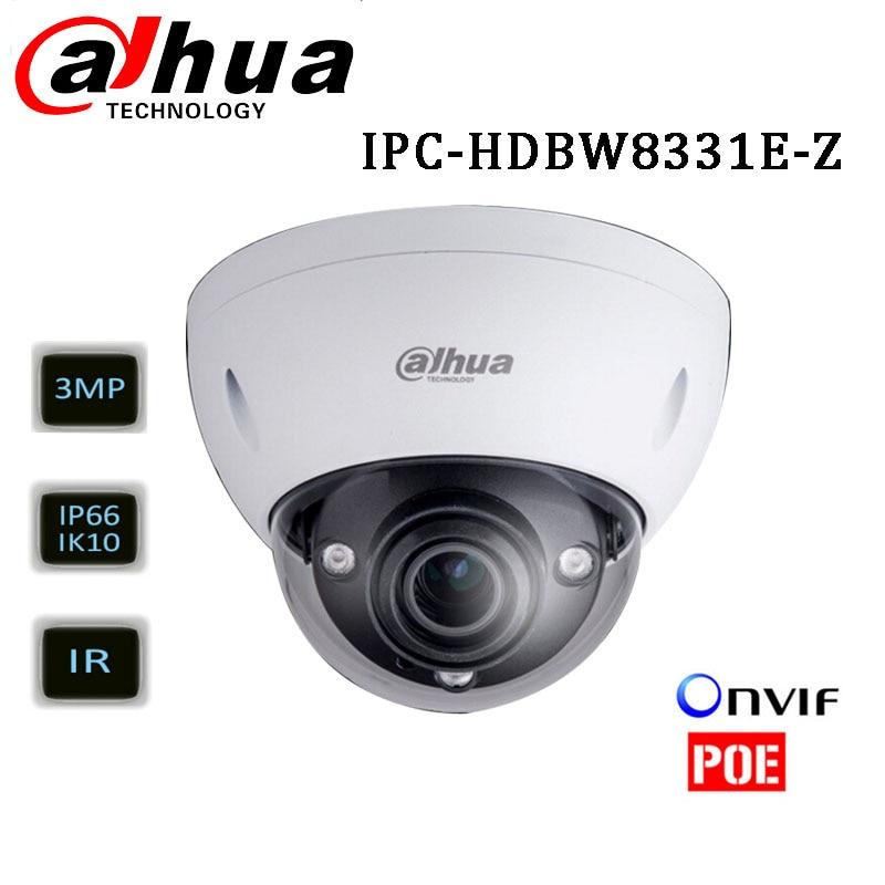 Dahua IPC HDBW8331E Z 3MP WDR varifocal motorized lens 2 8 12mm ONVIF IR 50m Dome