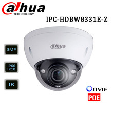 Dahua IPC-HDBW8331E-Z 3MP WDR varifocal motorized lens 2.8 ~12mm ONVIF IR 50m Dome IP camera Support H.265
