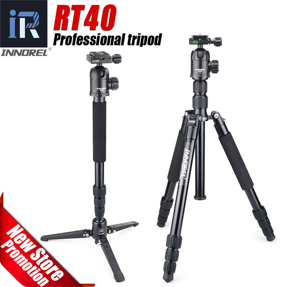 RT40 Professional Photographic Travel tripod monopod Compact Aluminum alloy camera stand for DSLR Camera High quality 164cm max diat professional carbon fiber tripod professional travel tripod monopod compact aluminum camera stand for dslr camera