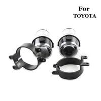 2pcs HID Bi xenon fog Projector Lens for toyota Fog Lights Lenses Driving Lamp Retrofit DIY