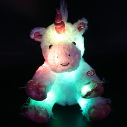 30cm 40cm led lumious stuffed unicorn with heavenly white plush toys colorful flashing led night light.jpg 250x250