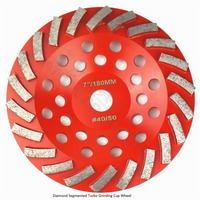 Diameter 180MM Segmented Turbo Diamond Grinding Cup Wheel For Concrete And Masonry Material 7 Diamond Grinding