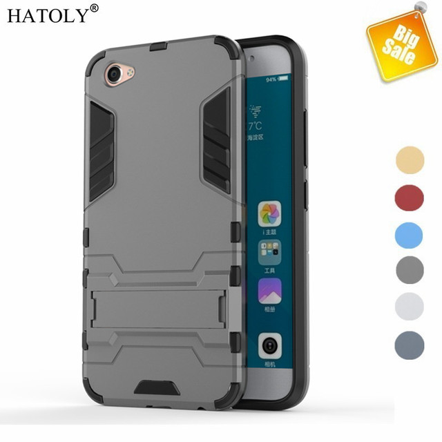 HATOLY Case Vivo X9 Cover Soft TPU & Hybrid Plastic Armor Case For Vivo X9 Case 5.5 inch Phone Holder Stand Funda Capa