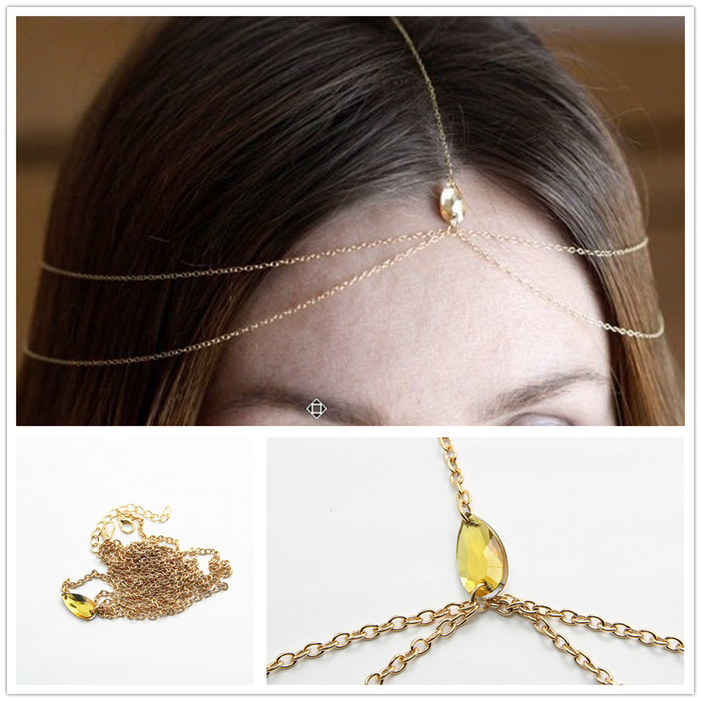 us $2.98 30% off|vintage double drops tassel headband fashion jewelry  rhinestone indian hair jewelry hair accessories chain haarschmuck cf109-in  hair