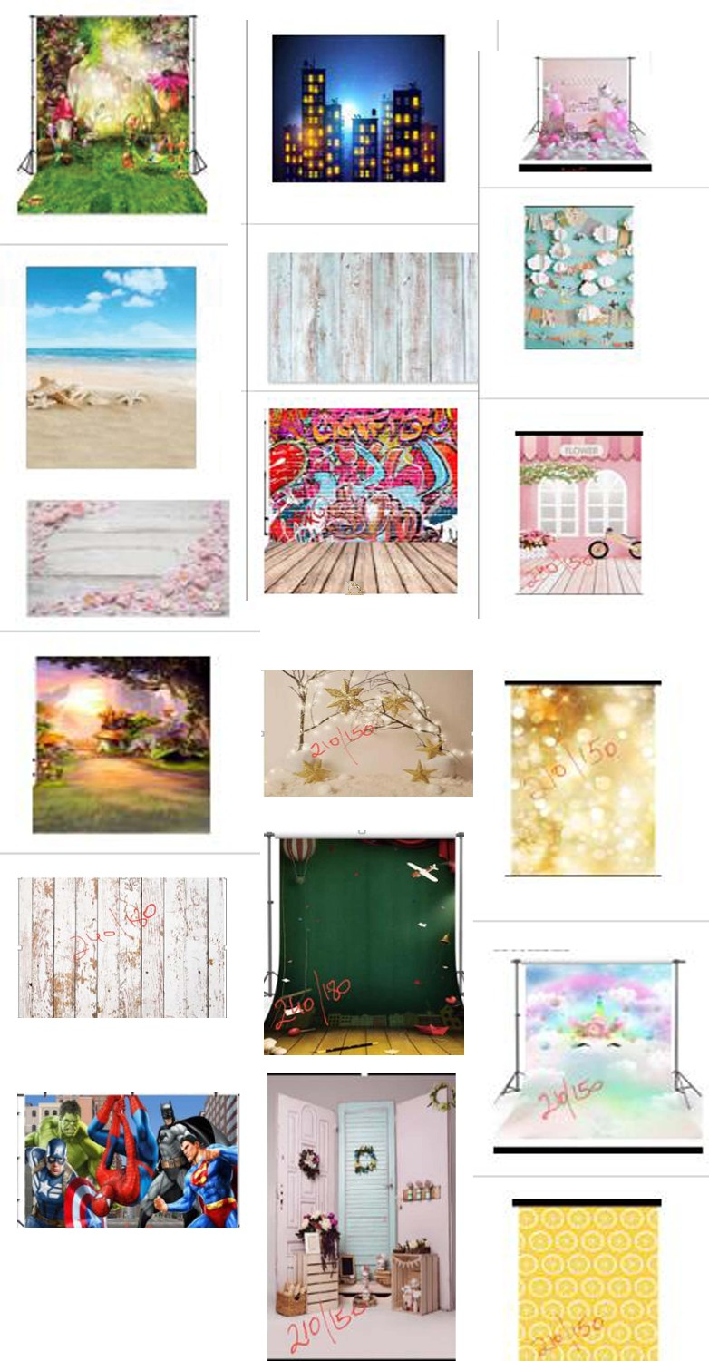 Customized 18 pcs quality vinyl cloth photography backdropsCustomized 18 pcs quality vinyl cloth photography backdrops
