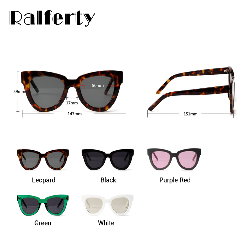 4ec8f29270fa Ralferty Stylish Cat Eye Sunglasses Women Vintage Cateye Sun Glasses Female  White Plastic Frames Sunglass Shades Oculos X1310-in Women's Sunglasses  from ...