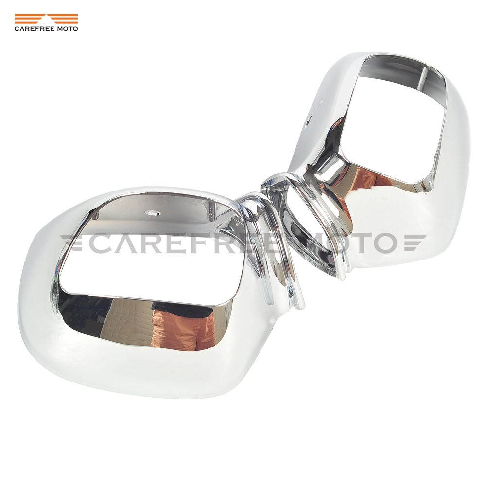 Chrome Motorcycle Rear View Side Mirror Housing Case for Honda GL1800 GOLDWING GL 1800 2001 2011
