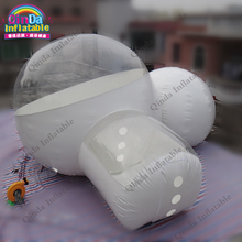 High quality durable pvc double room inflatable clear bubble tent snow camping