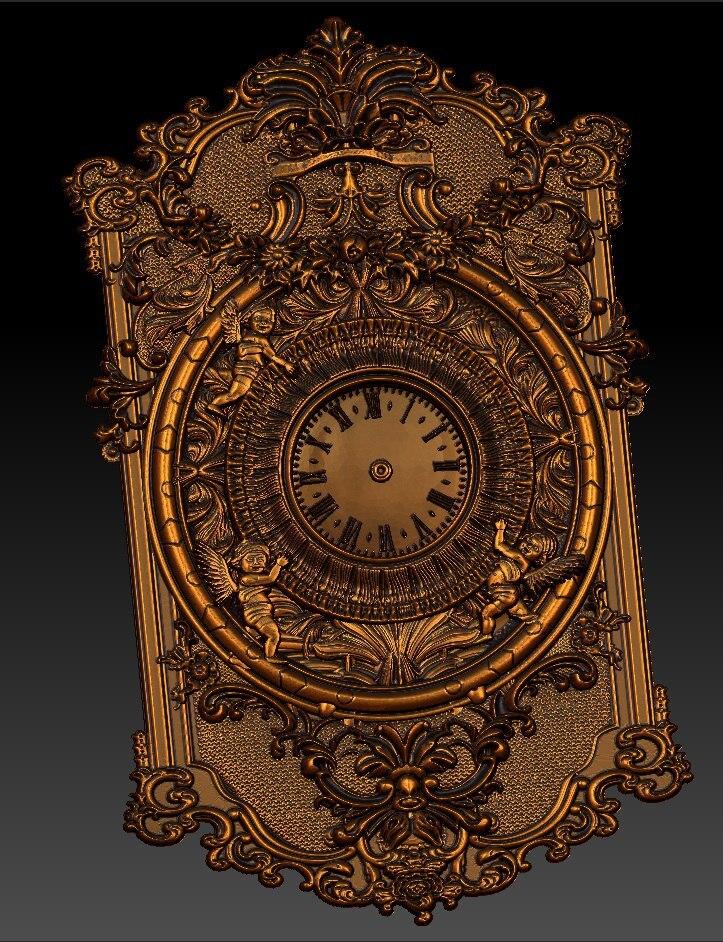 Digital File In STL Format Clock For CNC 3D Relief Carving Engraving C36-15