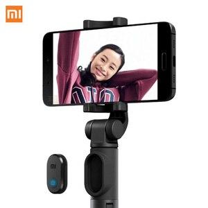 Image 3 - Xiaomi מתקפל כף יד מיני חצובה חדרגל טלפון Selfie מקל Bluetooth אלחוטי מרחוק תריס עבור iPhone8 X Huawei טלפון