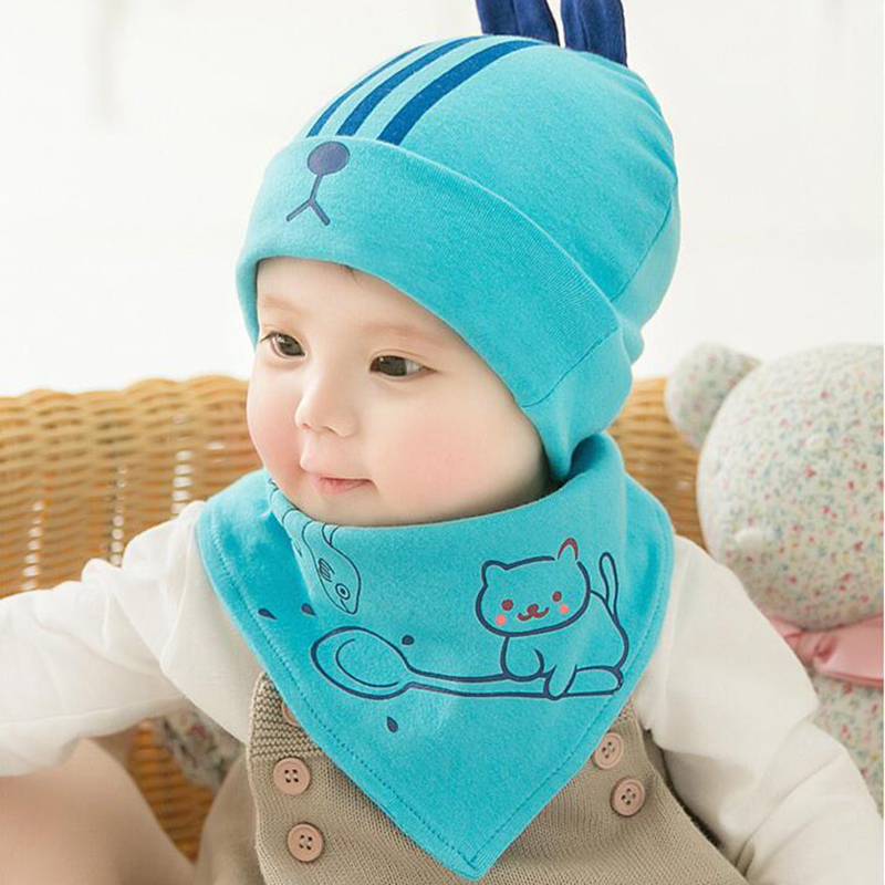 Brave Hpbbkd Newborn Baby Hat Set 2pcs/lot Infant Caps Cotton Baby Beanies Baby Girls Boys Hat Bib Kids Scarf Baby Hat Scarf Set Gh614 Boys' Baby Clothing Mother & Kids